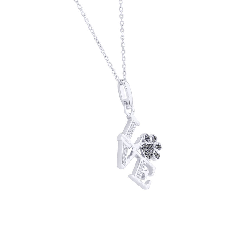 Silver Philly Love Paw Print