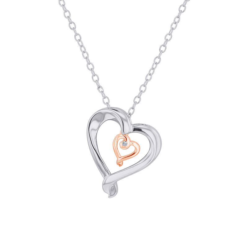 Silver Adjoining Heart
