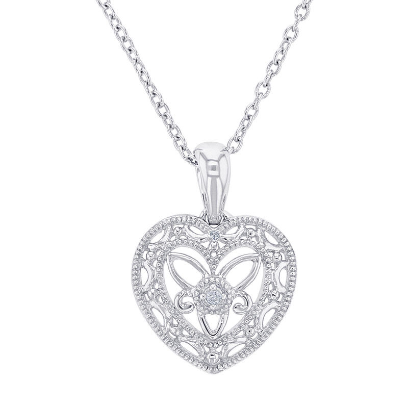 Silver Antique Heart