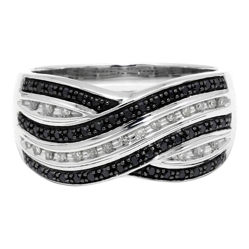 Silver Black & White Layered