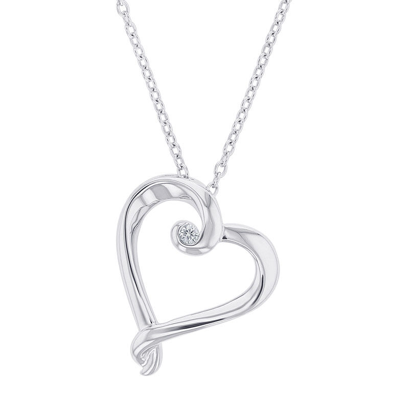Silver Loopy Heart