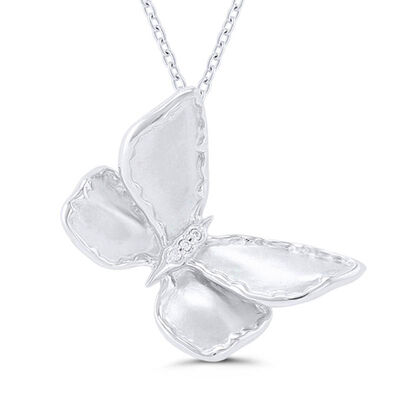 Silver Satin Butterfly