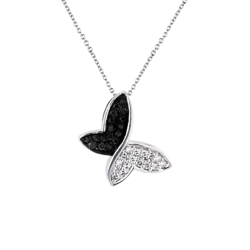 Silver Black and White Butterfly