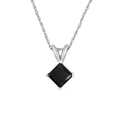 Black Diamond Princess Cut Solitaire