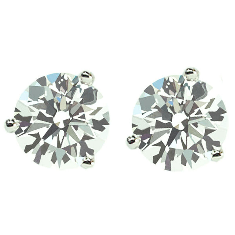 a606c7770 Get Naked Diamond Studs 1ct Steven Singer Jewelers