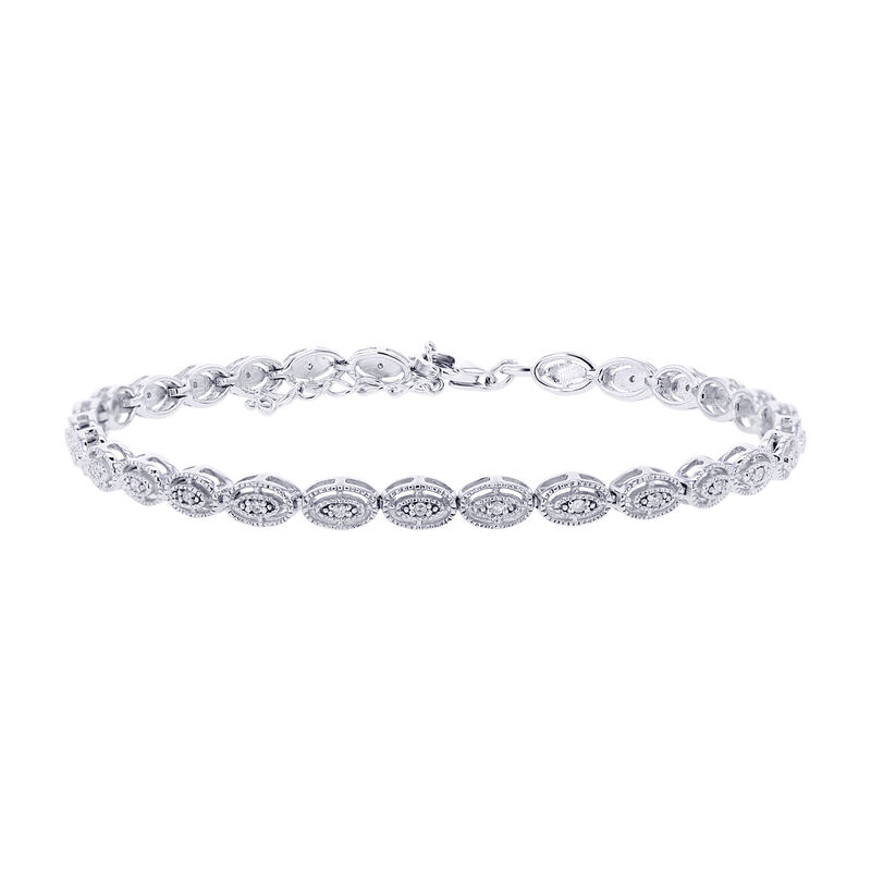 Silver Antique Oval