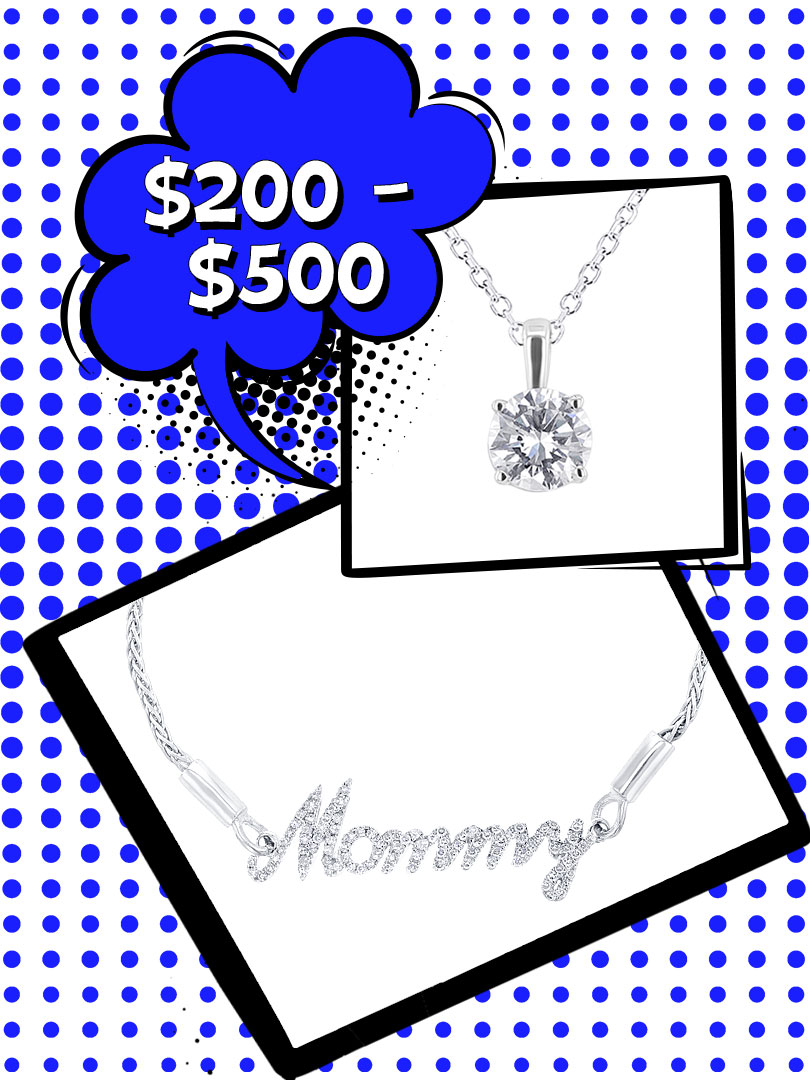 Silver and gold jewelry between $200 to $500