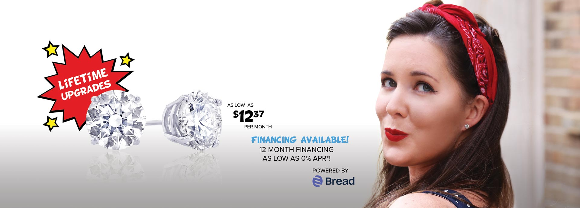 12 month interest free financing powered by Bread Financing
